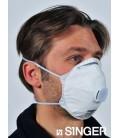 10 Demi-Masques Respiratoires Filtrants FFP2