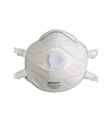 5 Demi-Masques Respiratoires Filtrants FFP3