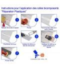 Colle Bi composants Réparation Plastique carrosserie ultra rapide 30 secondes