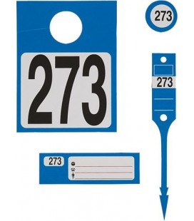 300 Étiquettes Véhicules Numérotées Couleur-Bleu