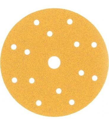 100 Disques Abrasif Gold Lion 15 Trous ∅150