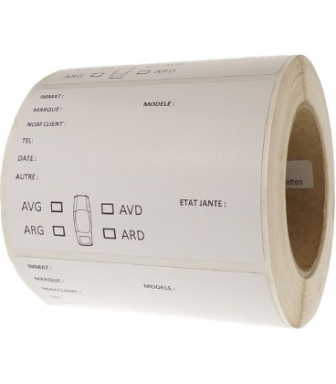 500 Étiquettes Identification des Pneus