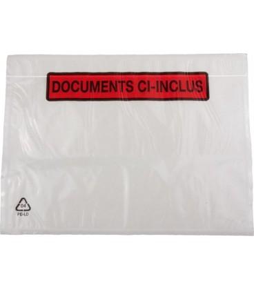 100 Pochettes Documents Ci-Inclus 16cm x 11cm