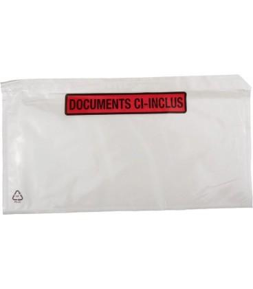 1000 Pochettes Documents Ci-Inclus 22cm x 11cm