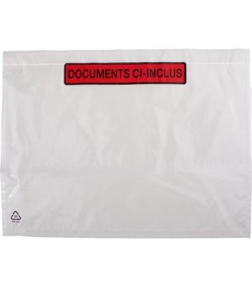 100 Pochettes Documents Ci-Inclus 22cm x 16cm