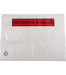 100 Pochettes Documents Ci-Inclus 31cm x 24cm