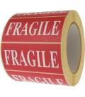 1 000 Étiquettes Fragile