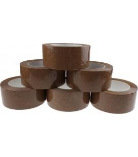 6 Adhésifs d'Emballage PVC Havane