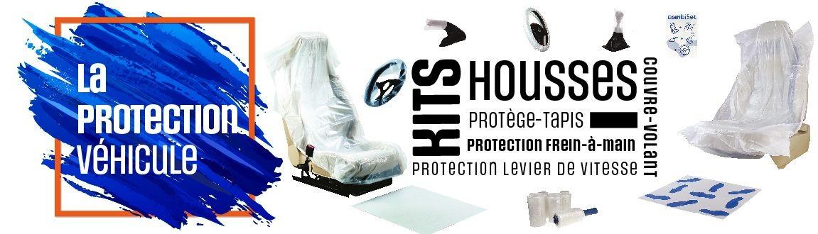 carrossier pro, spécialiste de la protection du véhicule, housses, kit 5 en 1, protège tapis, toute la protection de l'habitacle