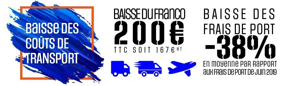 Baisse des frais de port et du FRANCO